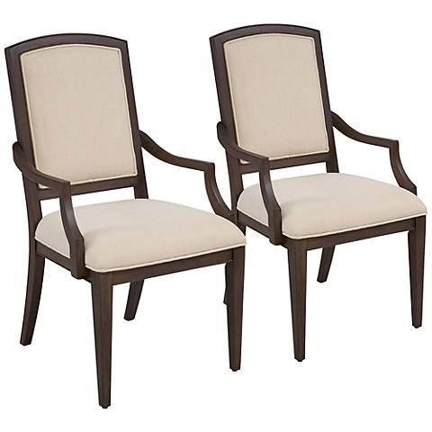 Marlette Natural Brown Parson Armchair Set of 2