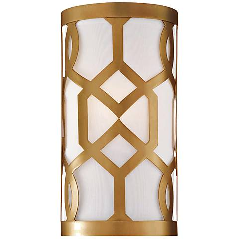 "Crystorama Jennings 12"" High Aged Brass Wall Sconce"