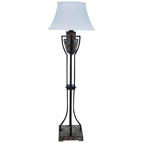 Crestview Collection Monarch Slate and Bronze Floor Lamp