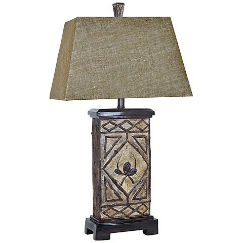 Crestview Collection Pinecone Lodge Rustic Branch Table Lamp