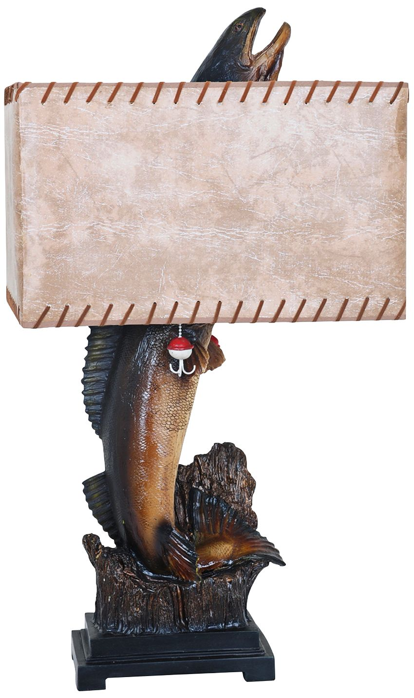 Crestview Collection Walleye Bronze Table Lamp