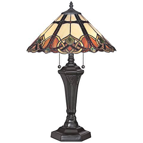 Quoizel Cambridge Vintage Bronze Tiffany Table Lamp