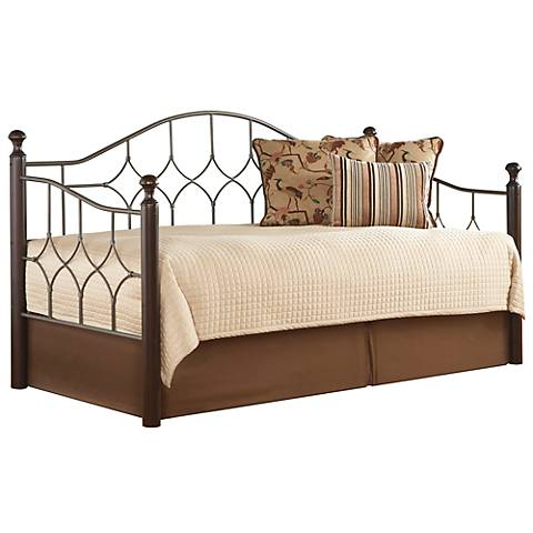 Bianca Euro Top Spring Hammered Pewter Daybed