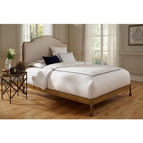 Calvados Sand and Natural Oak Metal Bed