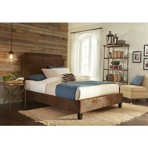 Canterbury Tobacco Bonded Leather Upholstered Bed