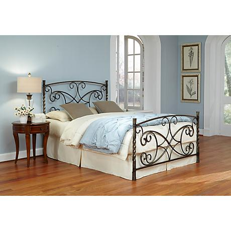 Charisma Copper Chrome Metal Bed