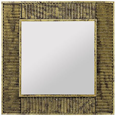 "Cooper Classics Malden Antique Gold 20"" Square Wall Mirror"