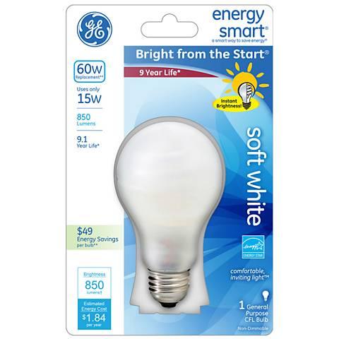 Soft White15 Watt Hybrid CFL with Halogen A19 Light Bulb