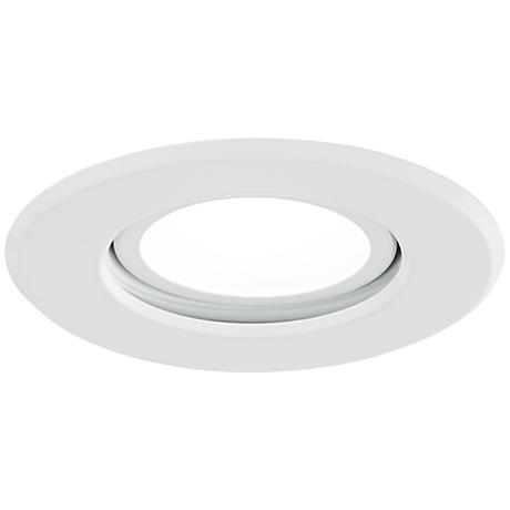 """4"""" Satco 10.4W Gimbal LED Complete Remodel Kit in White"""