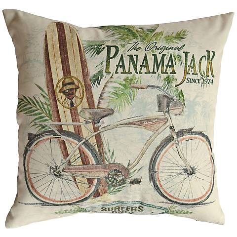 "Beach Comber 18"" Square Indoor-Outdoor Pillow Set of 2"