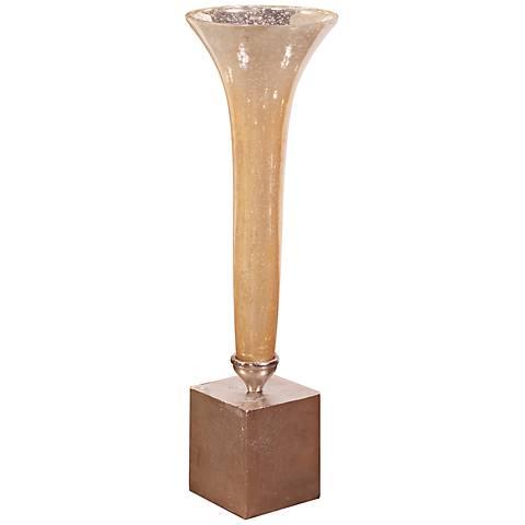 Howard Elliott Small Caramelized Glass Fluted Vase