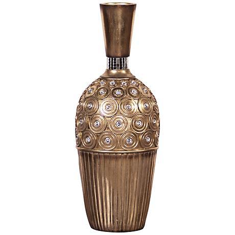Howard Elliott Gold Gem Studded Small Vase