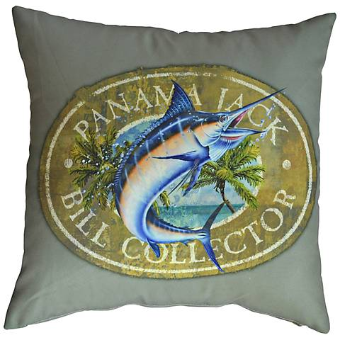 "Bill Collector 18"" Square Pillow Set of 2"