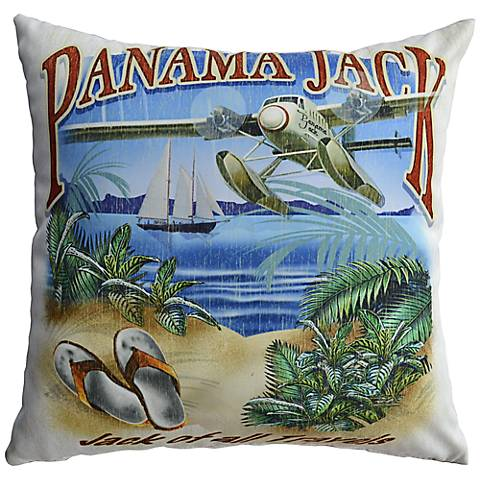 "Jack of All Travels 18"" Square Pillow Set of 2"