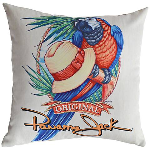 """Panama Parrot 18"""" Square Indoor-Outdoor Pillow Set of 2"""