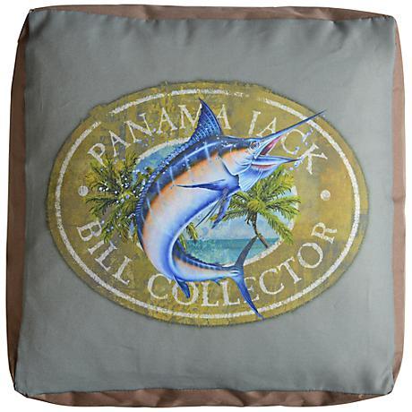 Panama Jack Bill Collector Indoor/Outdoor Pouf Ottoman