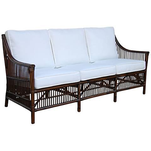 Panama Jack Bora Bora Cushioned Rattan Sofa