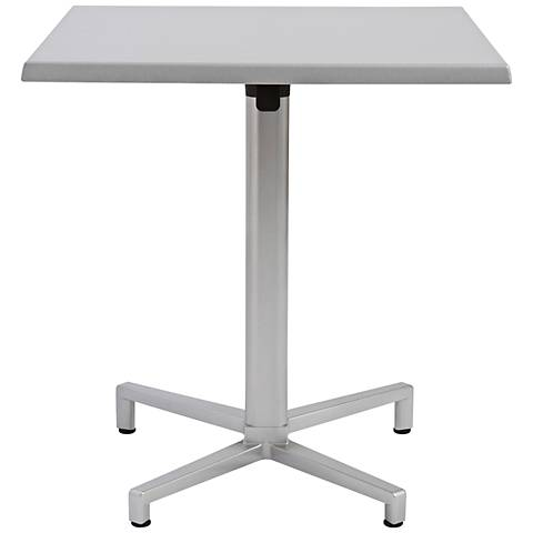 Domino Quadruped Silver Outdoor Table Base
