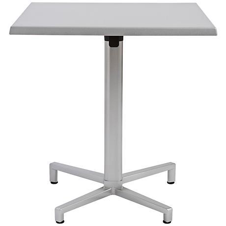 Domino Quadruped Silver Outdoor Table Base