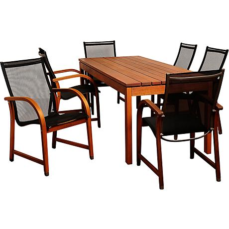 Fletcher Eucalyptus 7-Piece Rectangular Patio Dining Set