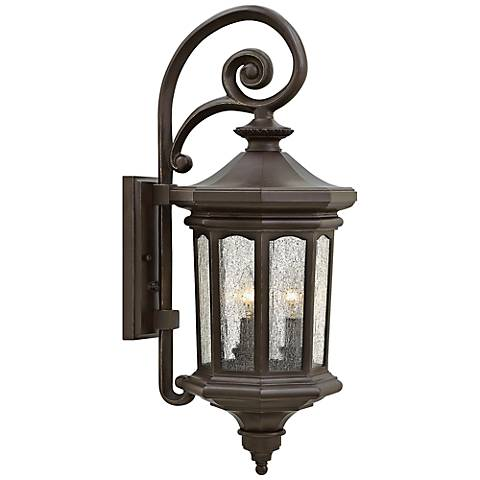 "Hinkley Raley 9 1/2""W Oil-Rubbed Bronze Outdoor Wall Light"