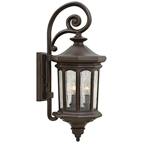 """Hinkley Raley 9 1/2""""W Oil-Rubbed Bronze Outdoor Wall Light"""
