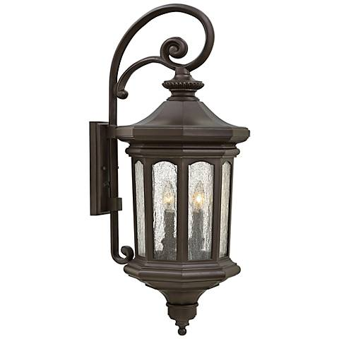 "Hinkley Raley 11 3/4""W Oil-Rubbed Bronze Outdoor Wall Light"