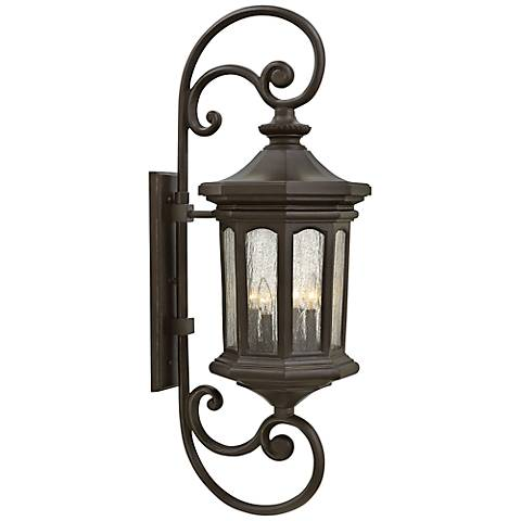 """Hinkley Raley 13"""" W Oil-Rubbed Bronze Outdoor Wall Light"""