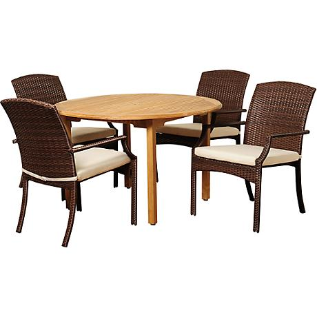 White Ivory Wicker Rattan Outdoor Furniture