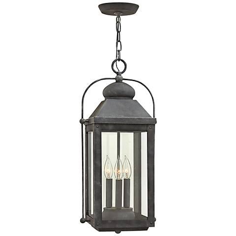 "Anchorage 23 3/4"" High Aged Zinc Outdoor Hanging Lantern"