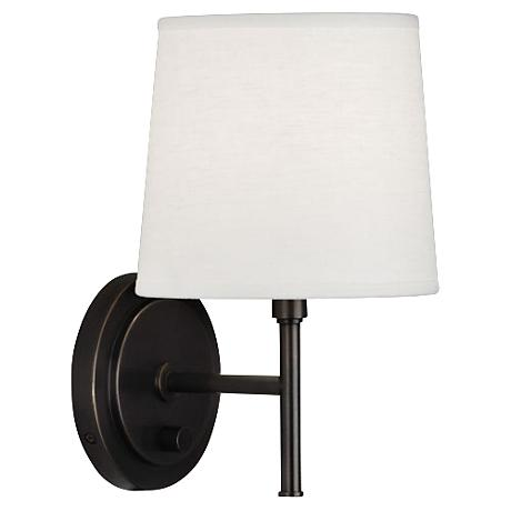 Lamps Plus Plug In Wall Sconces : Robert Abbey Bandit Deep Patina Bronze Plug-In Wall Sconce - #7V447 Lamps Plus