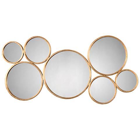 "Uttermost Kanna Gold 48 3/4"" x 23 3/4"" Metal Wall Mirror"