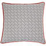 "Maze Gray Orange 20"" Square Decorative Indoor-Outdoor Pillow"