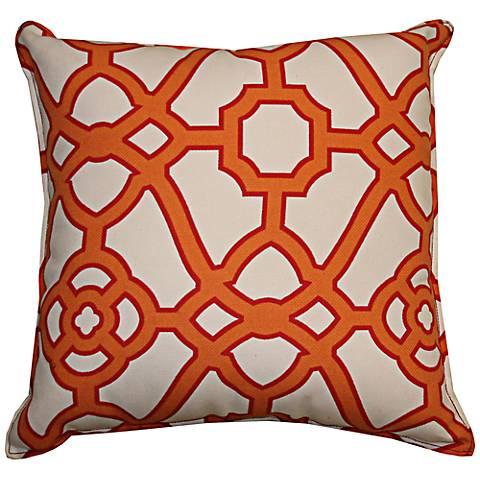 """Octagon Orange 20"""" Square Decorative Indoor-Outdoor Pillow"""