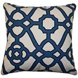 "Octagon Blue 20"" Square Decorative Outdoor Pillow"
