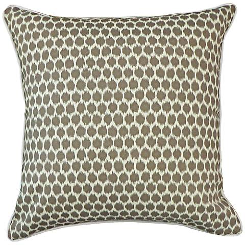 "Splotch Taupe 20"" Square Decorative Indoor-Outdoor Pillow"