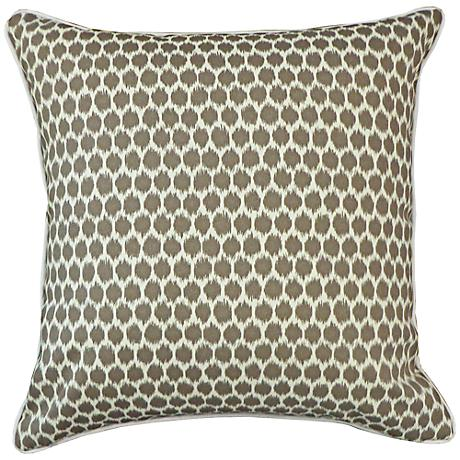 """Splotch Taupe 20"""" Square Decorative Outdoor Pillow"""