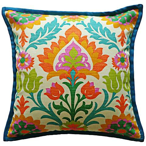 """Athena Floral 20"""" Square Decorative Indoor-Outdoor Pillow"""