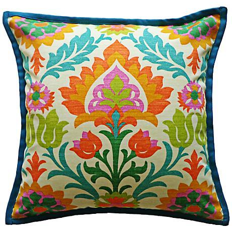 "Athena Floral 20"" Square Decorative Outdoor Pillow"