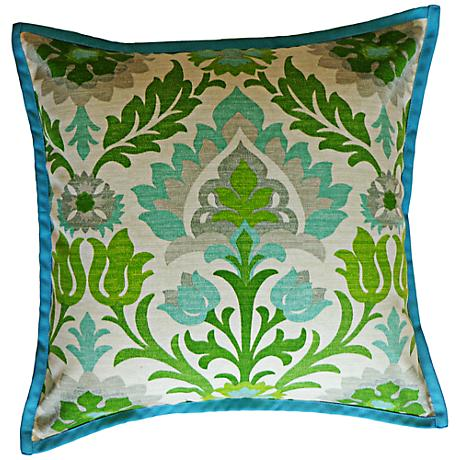"Kiki Green 20"" Square Decorative Outdoor Pillow"