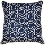 "Dunkin Navy Blue 20"" Square Decorative Outdoor Pillow"