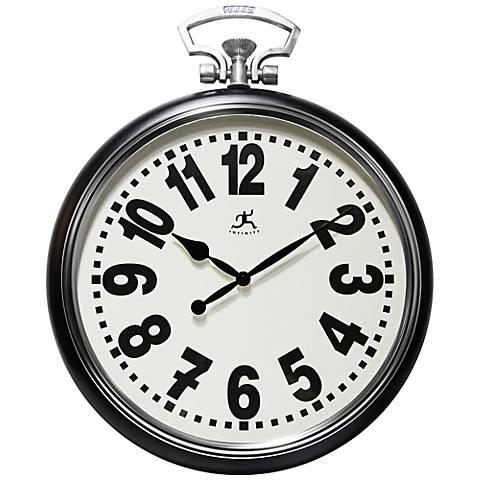 "Broadway 25"" High Pocket Watch Wall Clock"