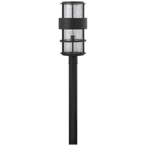 "Hinkley Saturn 21 3/4""H Satin Black Outdoor Post Light"