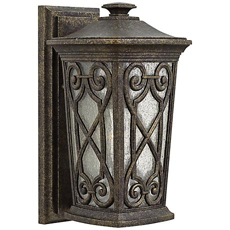 """Hinkley Enzo 8"""" Wide Autum Outdoor Wall Light"""