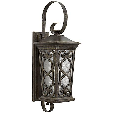 "Hinkley Enzo 10""W Autum Large Scroll Outdoor Wall Light"