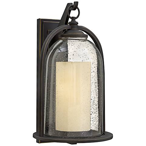 "Hinkley Quincy 11""W Oil-Rubbed Bronze Outdoor Wall Light"