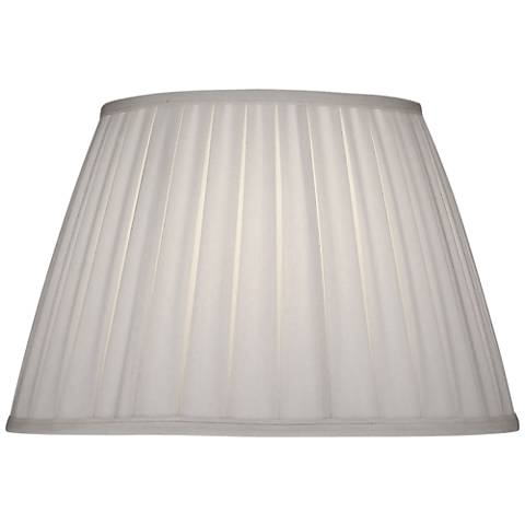 Stiffel Ivory Shadow Box Pleat Empire Shade 11x18x12 (Spider)