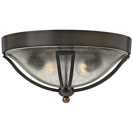 """Hinkley Bolla 16 3/4""""W Olde Bronze Cast Ball Ceiling Light"""