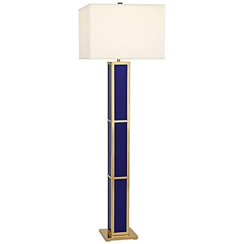 Jonathan adler barcelona royal blue floor lamp 7v785 for Barcelona 3 light floor lamp