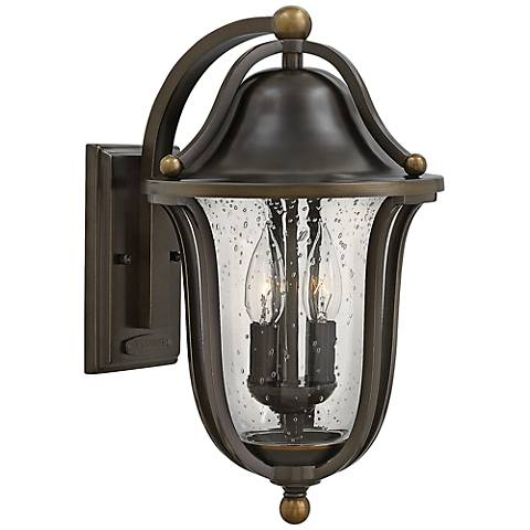 "Hinkley Bolla 9"" Wide Olde Bronze Outdoor Wall Light"
